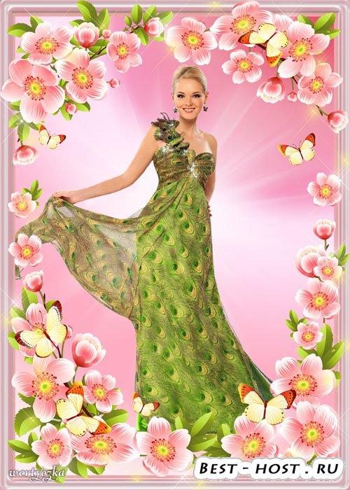 Цветочная рамка для фото - Весна цветет цветами дивными