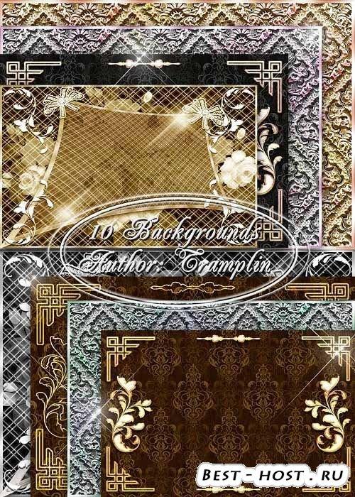 Красивый стильный сборник Фонов для вашего творчества в сфере графики – Формат Jpeg качество Рельефные украшения с цветами