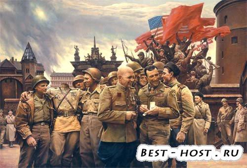 Шаблон для фотошопа дружеский коллаж на тему наша долгожданная победа