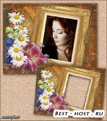 Цветочная рамка для фотошопа - Моя тайна