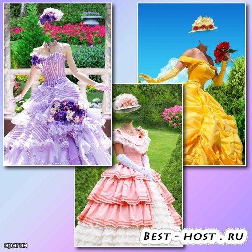 Женские шаблоны для фотомонтажа – Летние наряды