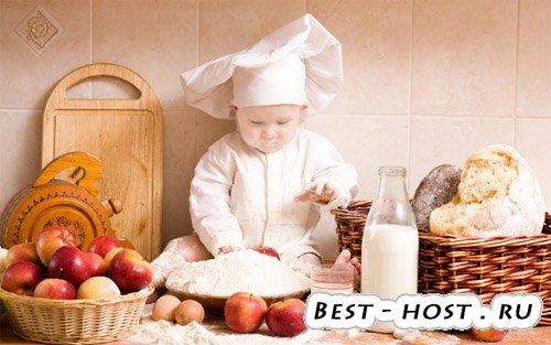 Детский шаблон для фотошоп - маленький повар