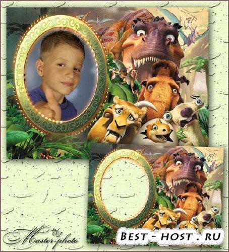 Детская рамка для фотошопа - Фото на память