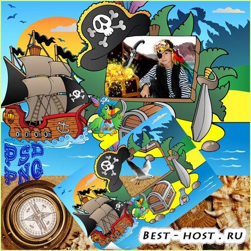 Фоторамка детская  - Маленькие пираты