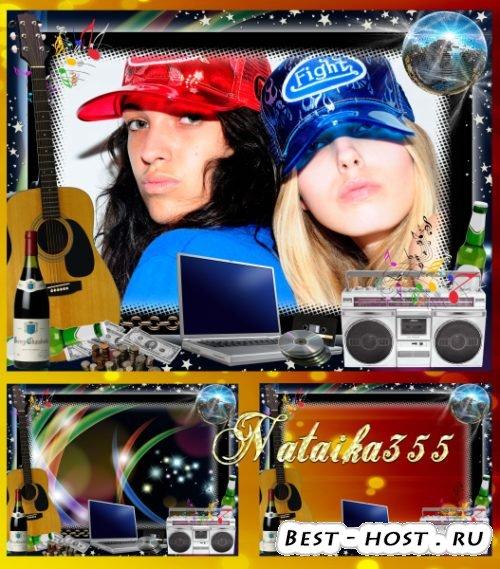 Рамка для молодежного фото - Мы слышим музыку миров