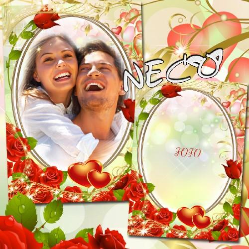Романтическая рамка - Пусть счастье будет вечно