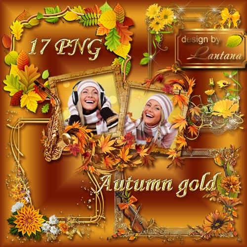 Вырезы для рамок - Кружится в вальсе осень золотая