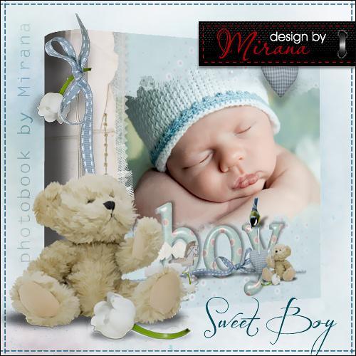 Фотоальбом для новорожденного - Мой сладкий мальчик