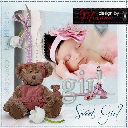 Фотоальбом для новорожденной - Моя сладкая девочка