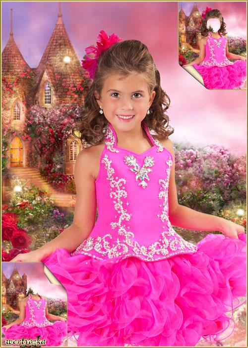 Детский шаблон для девочки - В нарядном коротком платье
