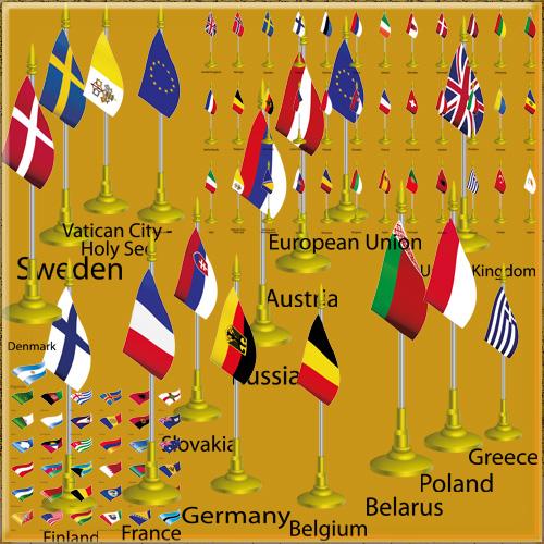 Клипарт  - Флаги стан мира часть1