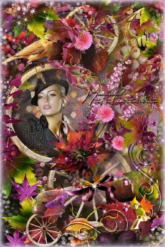 Осенняя рамочка для фото  – Осенняя пора, пора очарований…