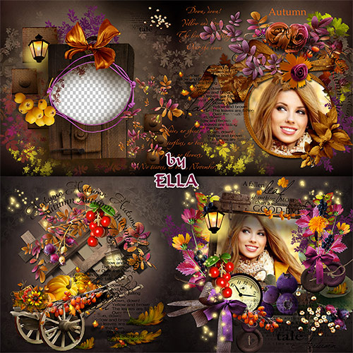 Красивая осенняя фотокнига-Осень красками играет