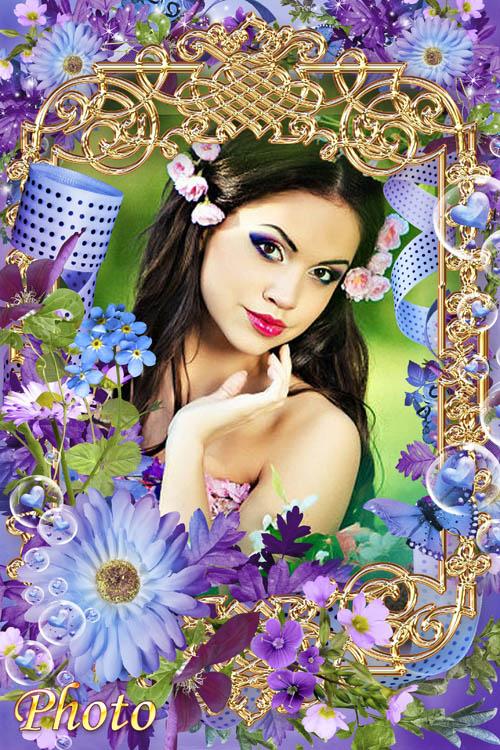 Цветочная рамка для фото - В мире цветов так тепло и прохладно