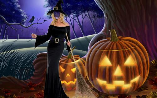 Шаблон для фотошопа - костюм для Хэллоуин