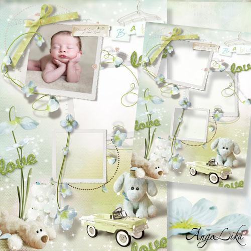 Фоторамка для новорожденного - Мой любимый плюшевый малыш
