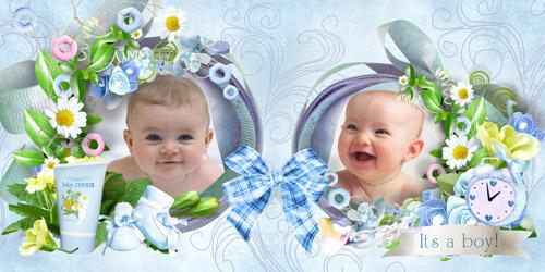 Детский фотоальбом для мальчика - Мой маленький ангел