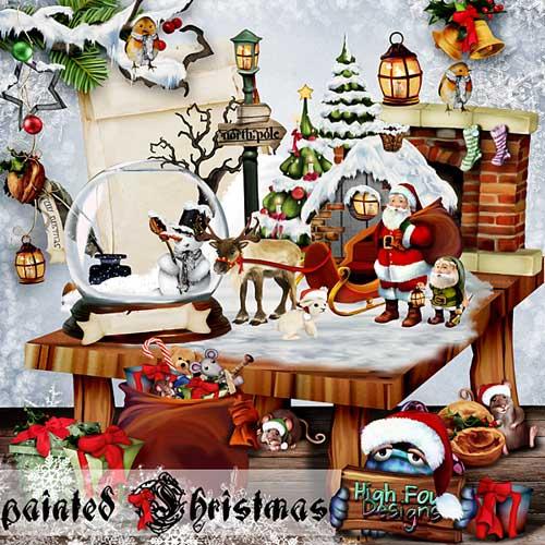 Рождественский скрап-набор - Разукрашеное Рождество