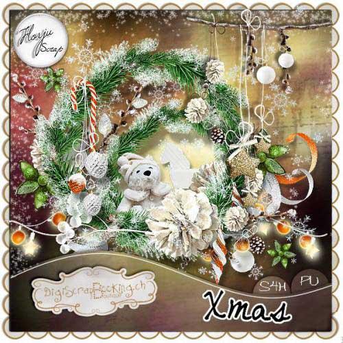 Зимний скрап-набор - Счастливое рождество