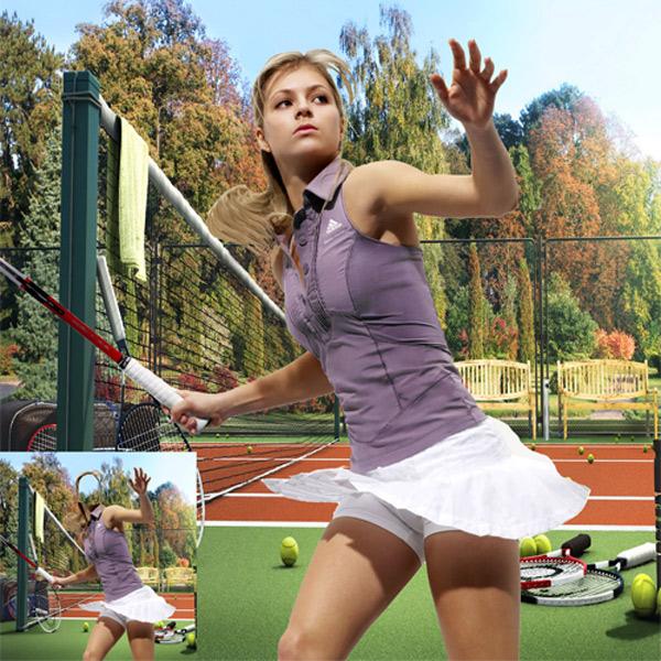 Шаблон женский -Теннисистка