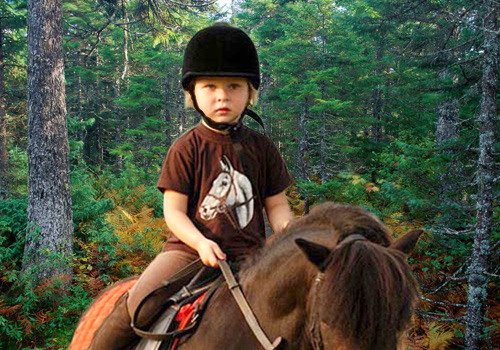 Детский шаблон для фотошопа - А пони тоже кони