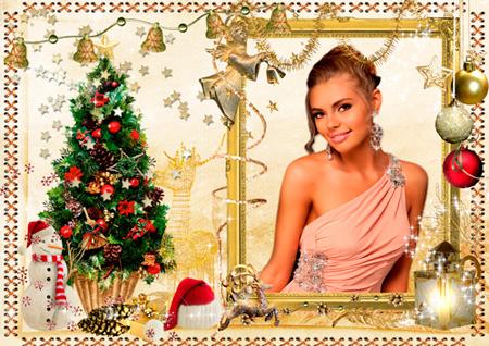 Рамочка для фото - Золотое Рождество