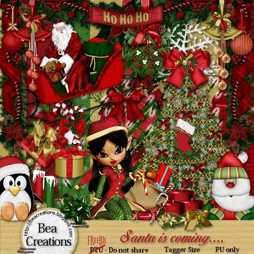 Скрап-набор: Рождественский-free