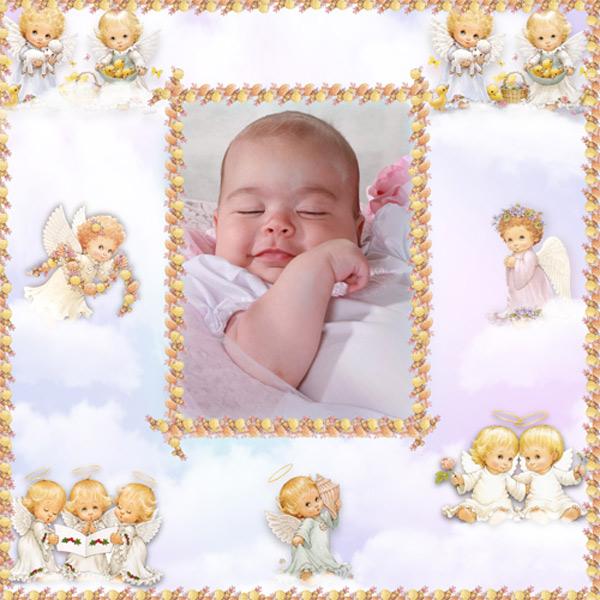 Рамка детская - Cны ангела