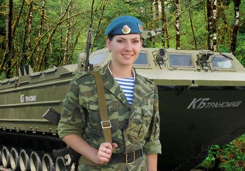 Женский шаблон для фотошопа - Служу Отечеству!