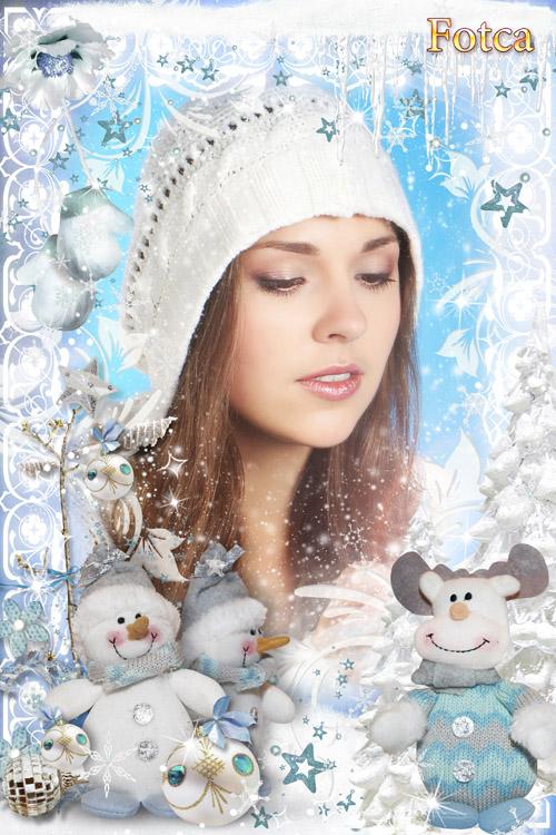 Новогодняя рамка для фото - Снежное царство