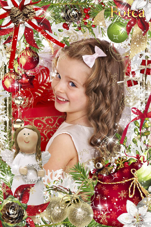 Новогодняя рамка для фото - С Рождеством