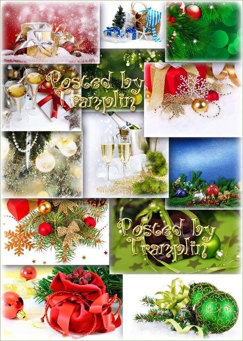 Новогодние праздничные фоны – Пусть светится огнями елка