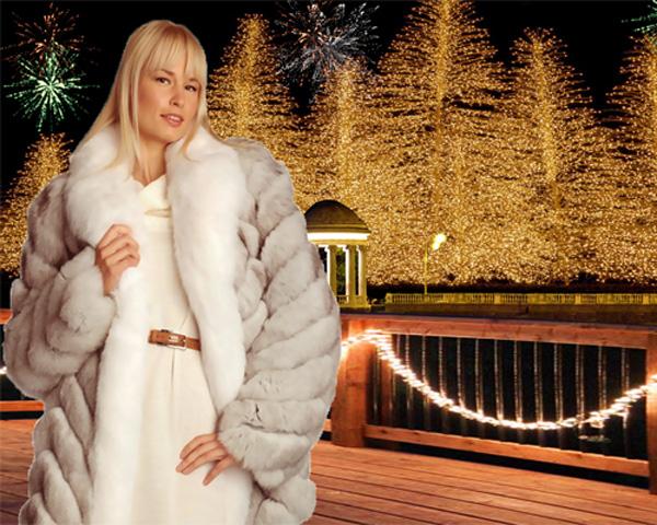 Шаблон женский - Сказка новогодней ночи