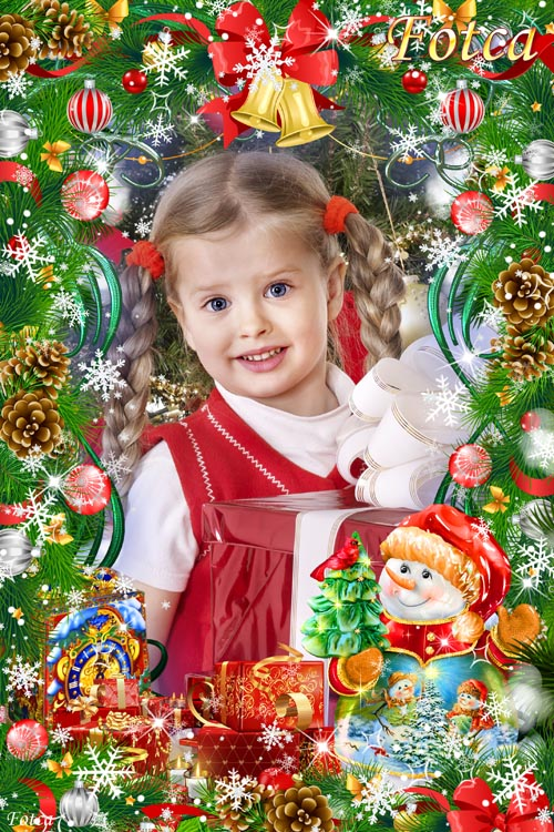 Детская новогодняя рамка - Такой веселый Новый год