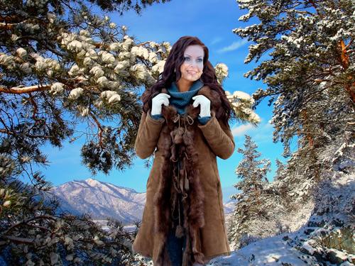 Шаблон для фотошопа – Зимний пейзаж