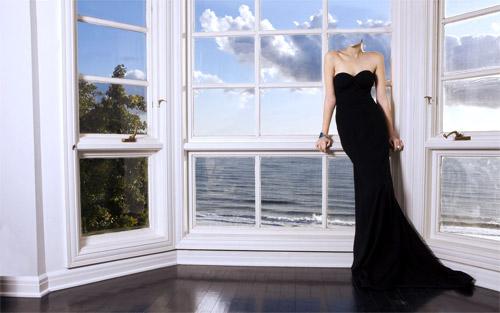 Шаблон для фотошопа - на террасе возле океана