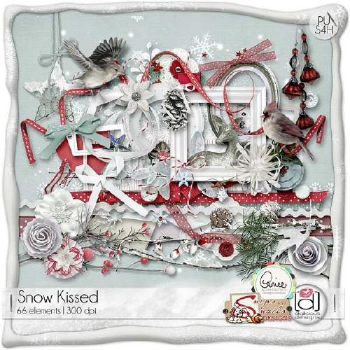 Зимний скрап-набор - Снежные поцелуи