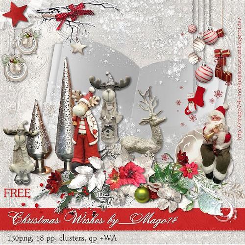 Рождественский скрап-набор - Рождественские Пожелания