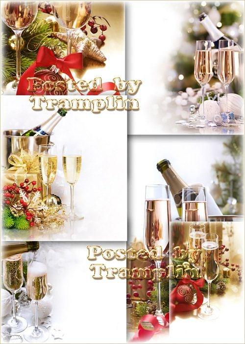 Новогодние фоны – Шампанское на Новый год