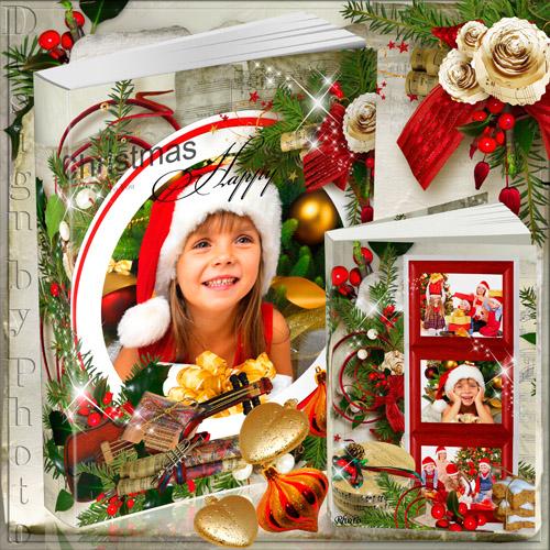 Красивая фотокнига для всей семьи - Рождественская мелодия