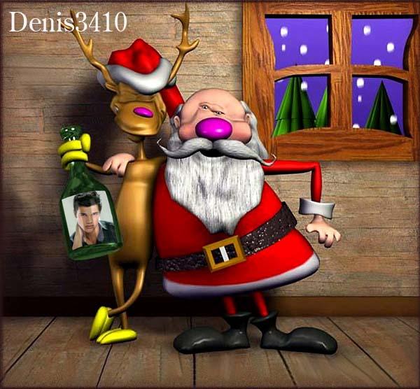 Новогодняя шутка с пьяным Дедом Морозом (Вставляем фото в бутылку)