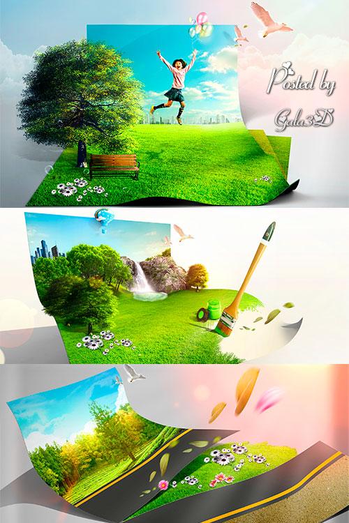 Креативные PSD-исходники для Вашего творчества