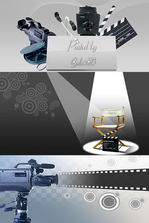 Клипарт на тему кино в PSD-исходниках