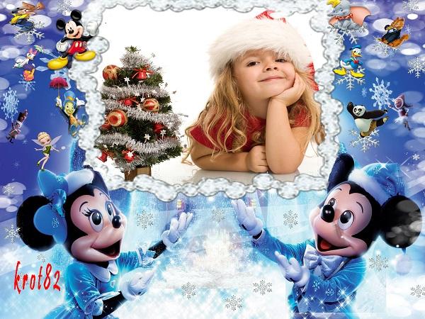 Рамка для фотошопа с героями мультфильмов – Микки Маус и его друзья