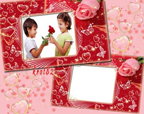 Рамка для фотошопа – Любовь это романтика