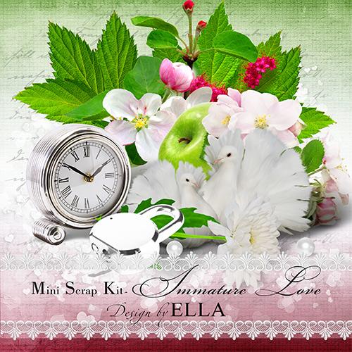 Романтический мини скрап набор и и многослойный календарь - Незрелая любовь