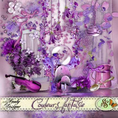 Цветочный скрап-набор - Цветочные фантазии