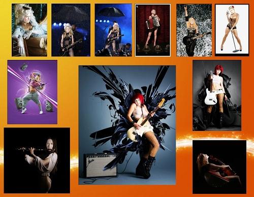 Набор женских шаблонов Музыкантки