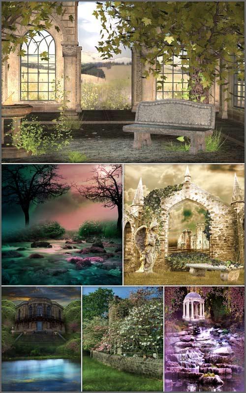Фоны для фотошопа -  Сказочные места