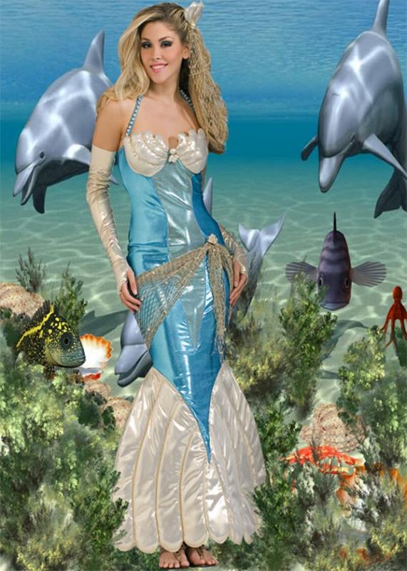 Шаблон женский - Царица морская